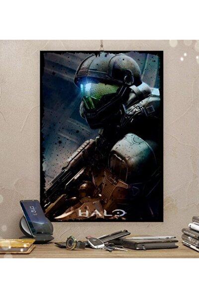 Halo Gamer Tasarım 15x21cm Hediyelik Dekoratif 8mm Ahşap Tablo