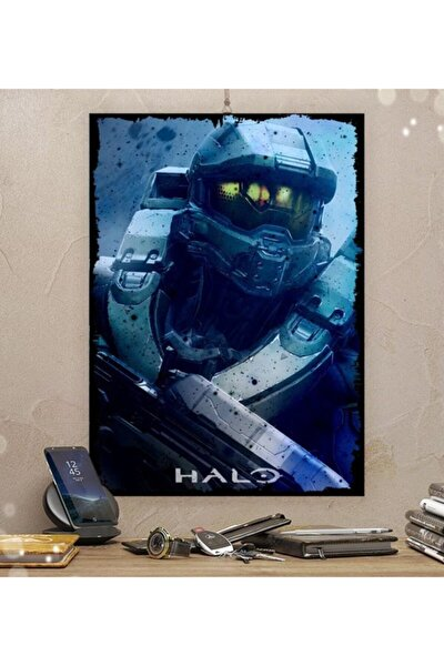 Halo Gamer Tasarım 21x30cm 8mm Ahşap Tablo