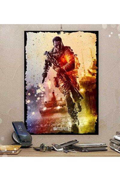 Battlefield Gamer Tasarım Ahşap Tablo 21x30cm 8mm