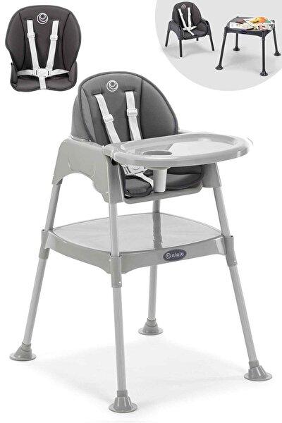 Gri Pasto 3in1 Çalışma Masalı Mama Sandalyesi İç Ped Hediyeli