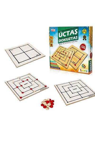 Üçtaş & Dokuztaş  Beceri Eğitici Zeka Strateji Çocuk Ve Aile Oyunu