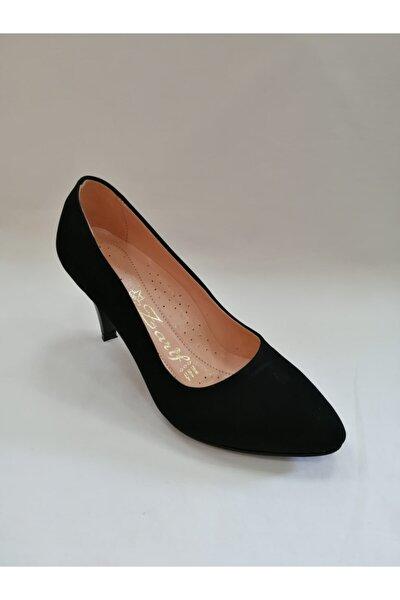 Kadın Siyah Alçak Topuk Stiletto