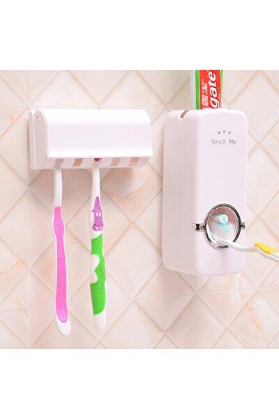 Otomatik Diş Macunu Sıkacağı Macun Sıkma Ve Diş Fırçalığı Kutusu