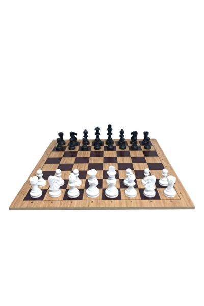 Ahşap Zeminli Profesyonel Satranç Takımı