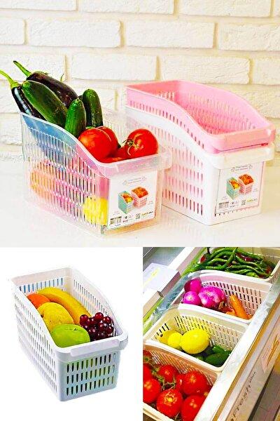 4'lü Buzdolabı Içi Sebze Meyve Düzenleyici Organizer
