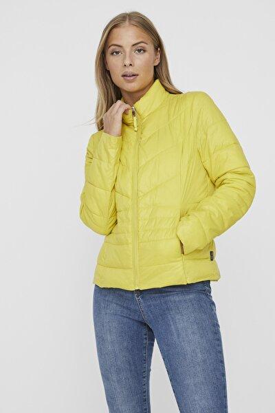 Kadın Sarı Kapüşonsuz Cepli Şişme Mont 10230860 VMSORAYASIV