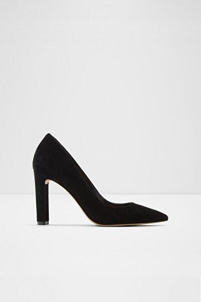 Siyah Kadın Febrıclya Topuklu Süet Ayakkabı