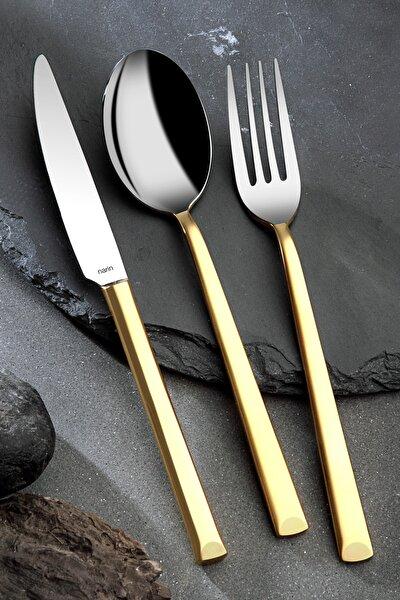Antares Serisi - Mat Altın - 30 Parça Çatal Kaşık Bıçak Takımı