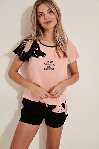 Kısa Kol Penye Suprem Şortlu Pijama Takım