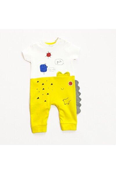 Bebek Sarı Dinazor Tulum