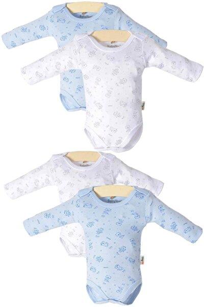 Bebek Çıtçıtlı Uzun Kollu 4'lü Zıbın Takımı PTK20S-408
