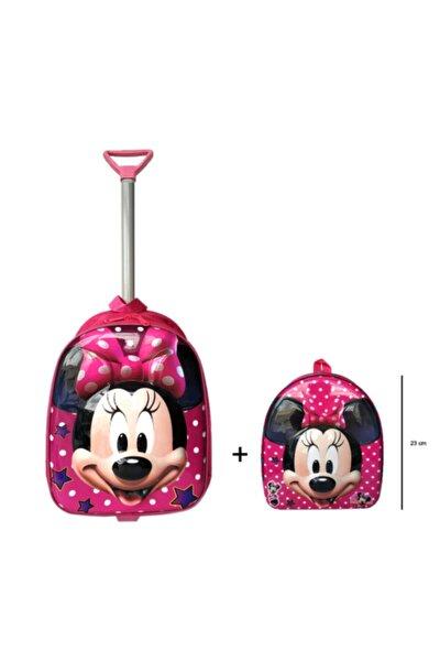 Anaokulu Çanta Seti Çekçekli Çanta - Mini Sırt Çantası Minnie Mouse