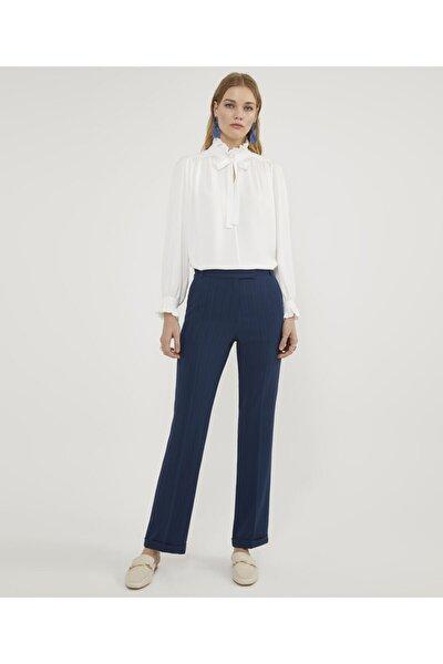 Kadın Lacivert  Çizgili Pantolon