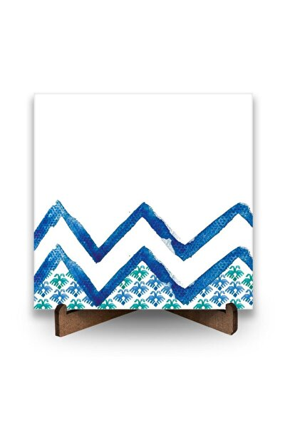 Kilim Motif Tepedeki Kartal Desenli Dekoratif Ayaklı Seramik Pano
