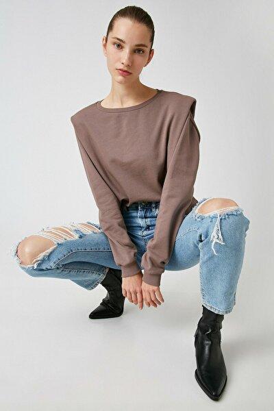 Kadın Kahverengi Sweatshirt 1KAL68550OK