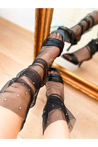 Kadın Siyah Soket Çorap