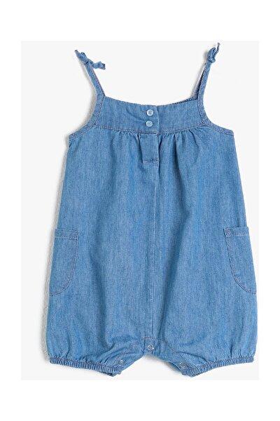 Mavi Kız Bebek Tulum