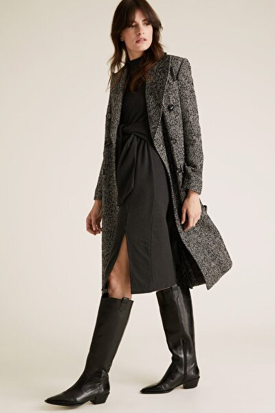 Kadın Siyah Kemer Detaylı Shift Elbise T42004288