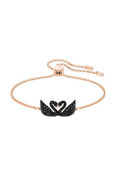 Kadın Bilezik İconic Swan:Bracelet Double Jet/Ros M 5344132