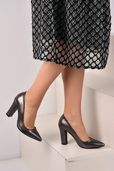 Platin Kadın Topuklu Ayakkabı A2000-19