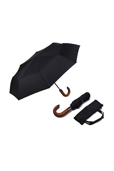Ahşap Saplı Tam Otomatik Rüzgarda Kırılmayan Şemsiye