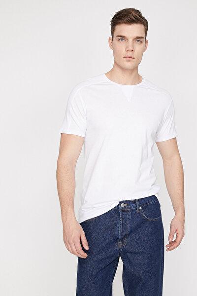 Erkek Beyaz T-Shirt 9YAM12004LK
