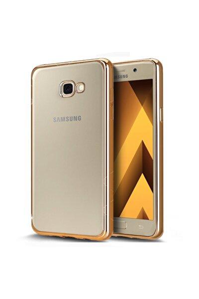 Samsung Galaxy A5 2017 Kılıf Flexi Delux Gold