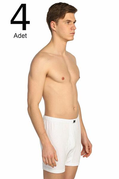 Erkek Beyaz 4'lü Paket Ribana Paçalı Külot ELF568T0111CCM4