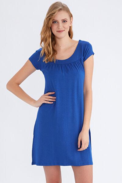 Kadın Saks Elbise 59333