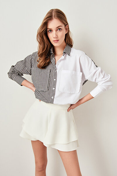 Beyaz Kareli Blok Gömlek TWOSS19AP0123