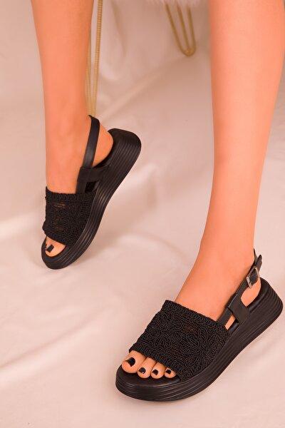 Siyah Kadın Sandalet 16207