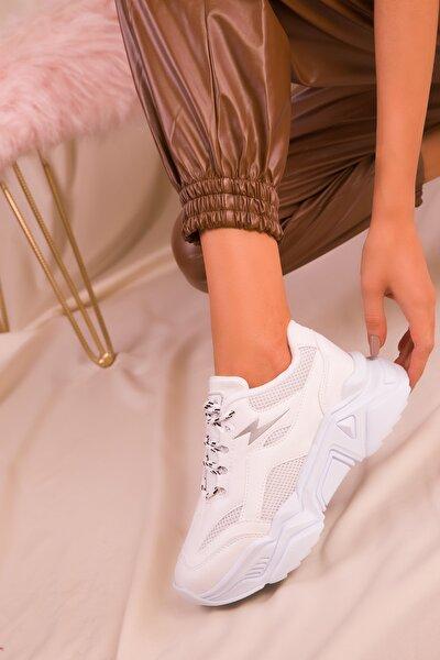 Beyaz Kadın Sneaker 16205