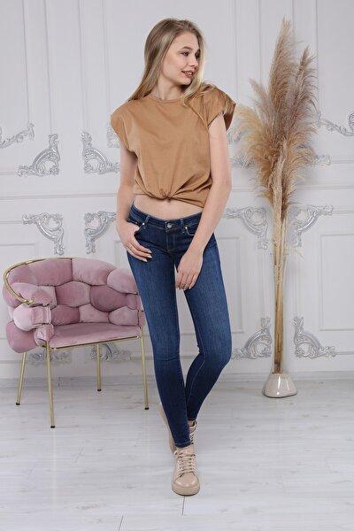 Kadın Lacivert Kot Jeans Pantolon