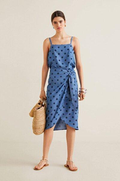 Kadın Donuk Mavi Askılı Üst 41079086