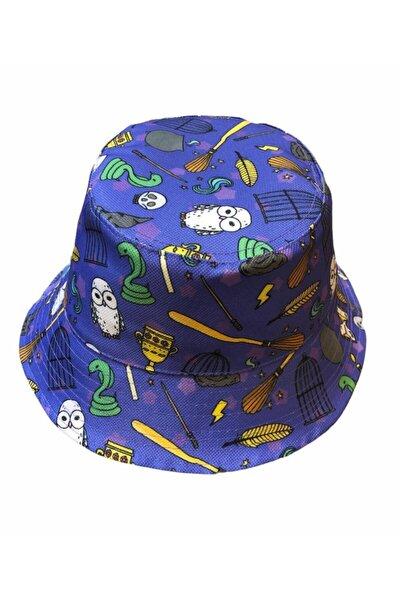 Butik Harry Potter Desenli Bucket Balıkçı Şapka
