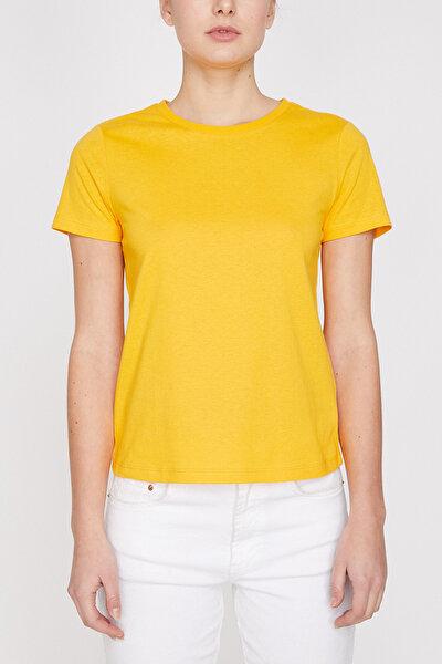 Kadın Sarı T-Shirt 9YAL18264IK