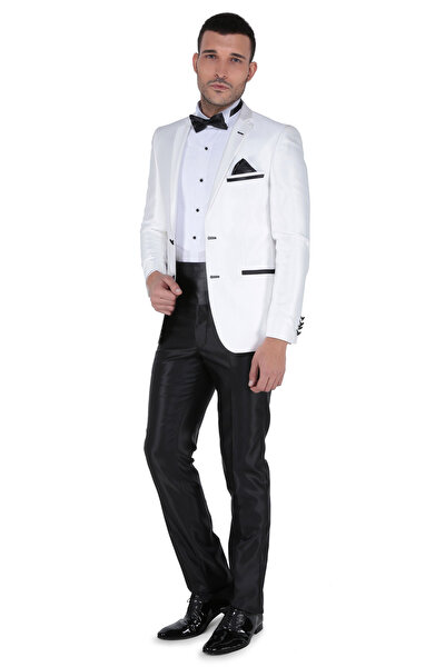 Erkek Trkn Mono Tk Yrt Dar Kalıp Smokin Takım Elbise -3B4M0413D072