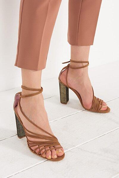 ELEENA Hakiki Deri Taba Kadın Topuklu Ayakkabı