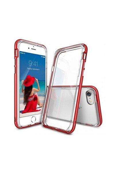 Frame Iphone 7 Çerçeveli Bumper Kılıf Blaze Red