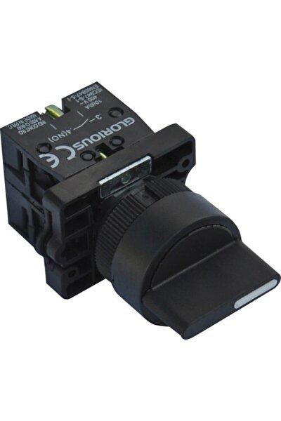 22mm 1 - 0 - 2 Kalıcı Plastik Mandal Buton 1no+1no Kontaklı Lay5 Ed33