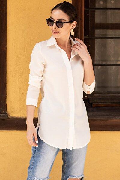Kadın Beyaz Tunik Gömlek ARM-19Y001075
