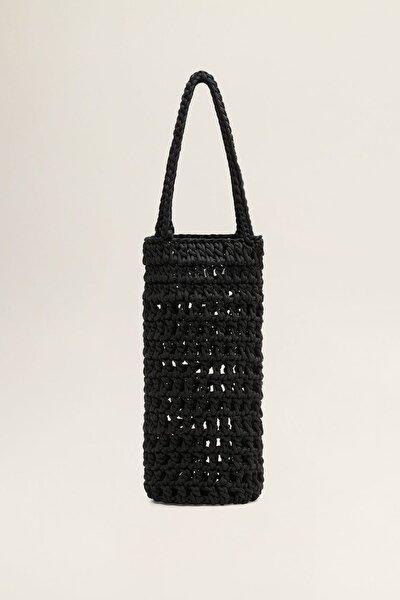 Kadın Siyah El Dikimi Kroşe Çanta 43095747
