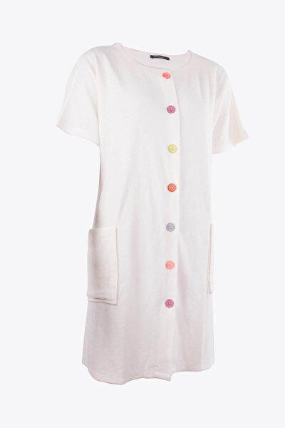 Kadın Ekru Önden Düğmeli Havlu Elbise 59515/4932