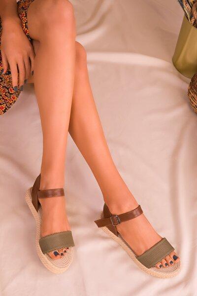 Yeşil-Taba Kadın Sandalet 14662