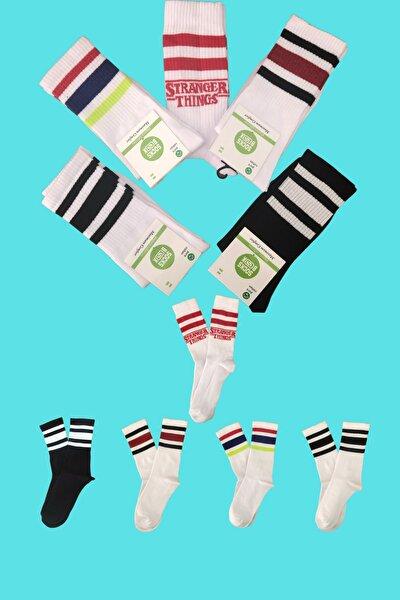 Stranger Things 5 Li Uzun Konç Renkli Çorap