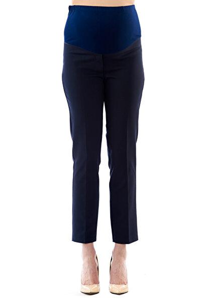Hamile Belden Ayarlı Lacivert Iş Pantolonu