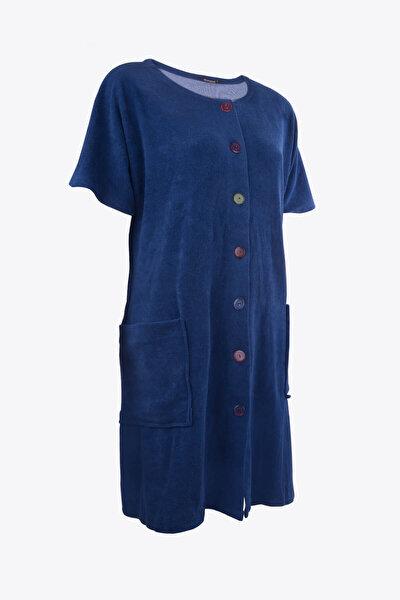 Kadın Renkli Önden Düğmeli Havlu Elbise 59515/4931