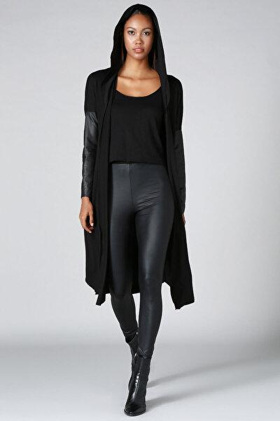 Kadın Siyah Triko Hırka HK2103