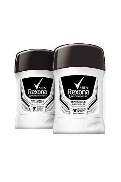 Erkek Deodorant Stick Invisible Black White 50 ml x2