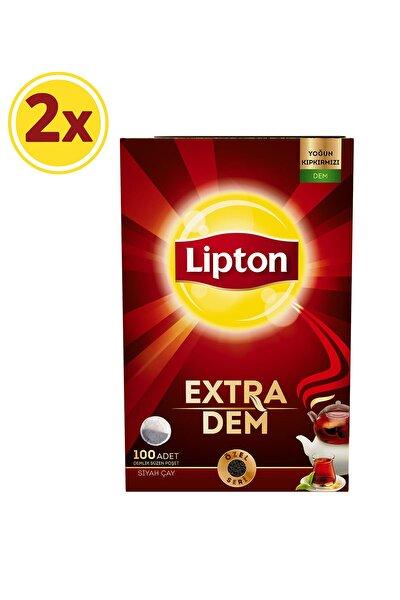 Extra Dem Demlik Poşet Çay 100'lü x 2 Adet